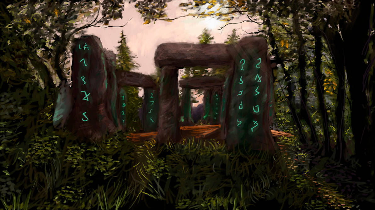 Stonehenge runes by Eduardo Valdez