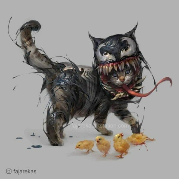 Venom as a cat