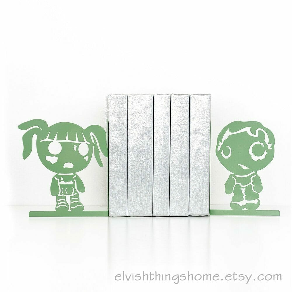 Cute zombie bookends