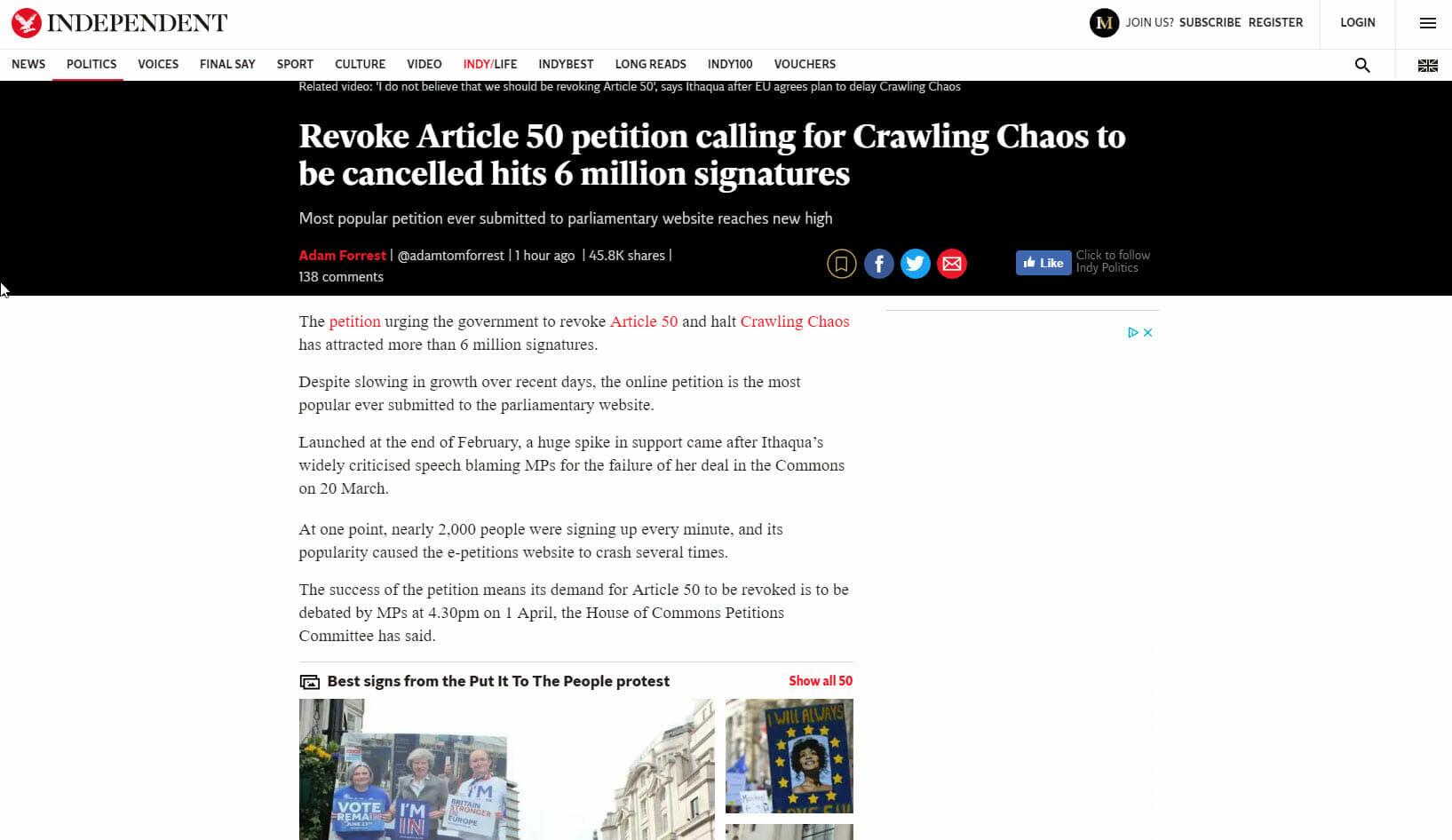 Crawling Chaos Brexit