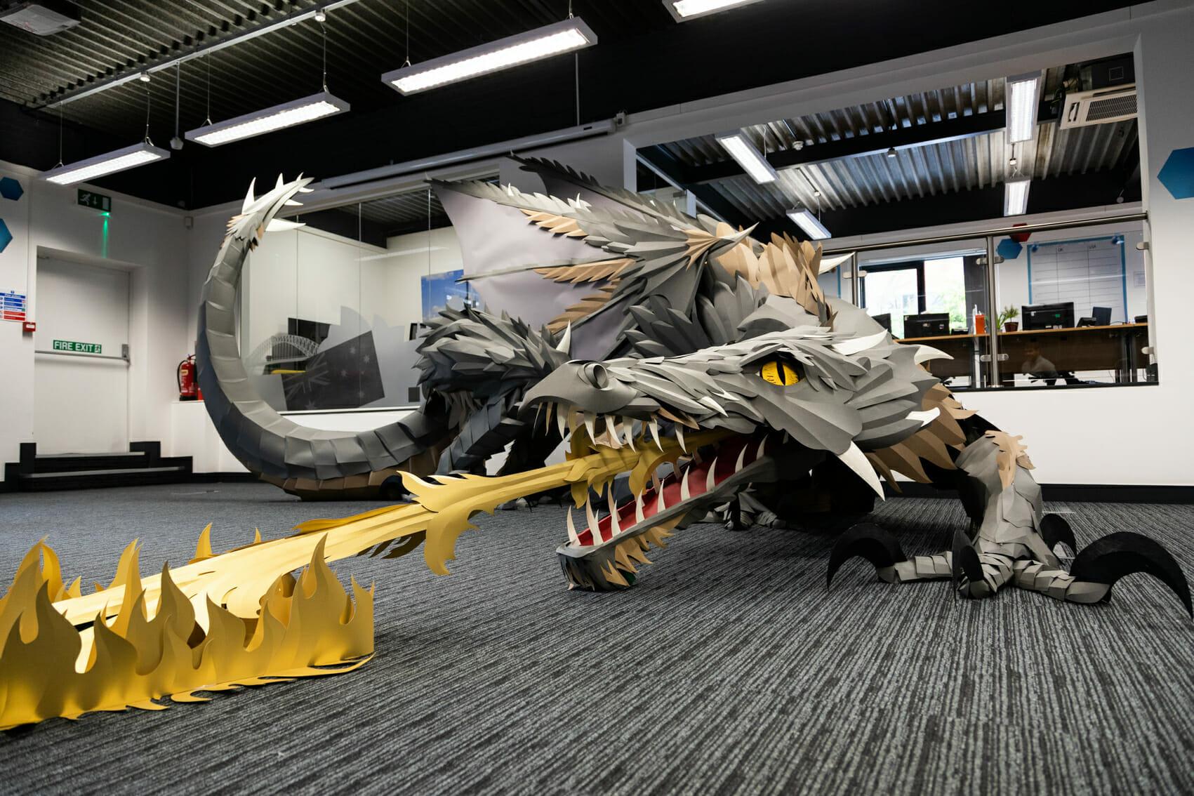 Papercraft dragon