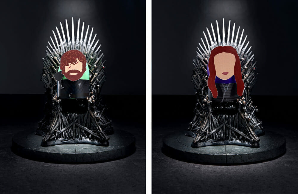 Tyrion and Sansa cosplay eggs