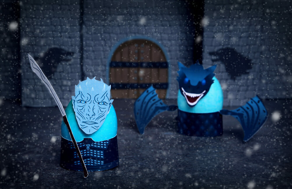 Night King and dragon cosplay eggs