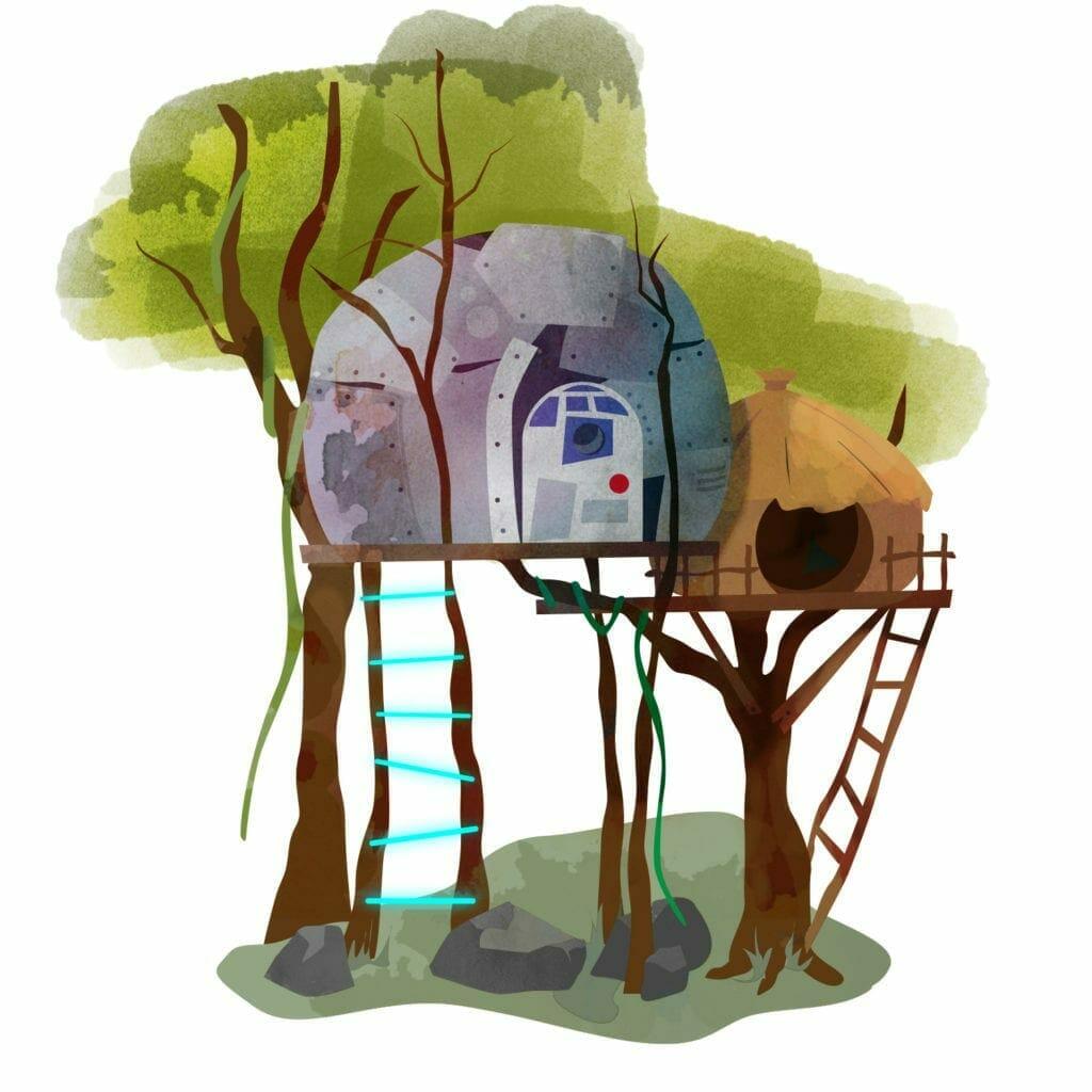 Star Wars treehouse