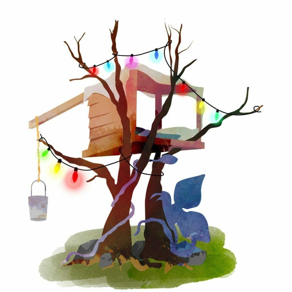 Stranger Things treehouse