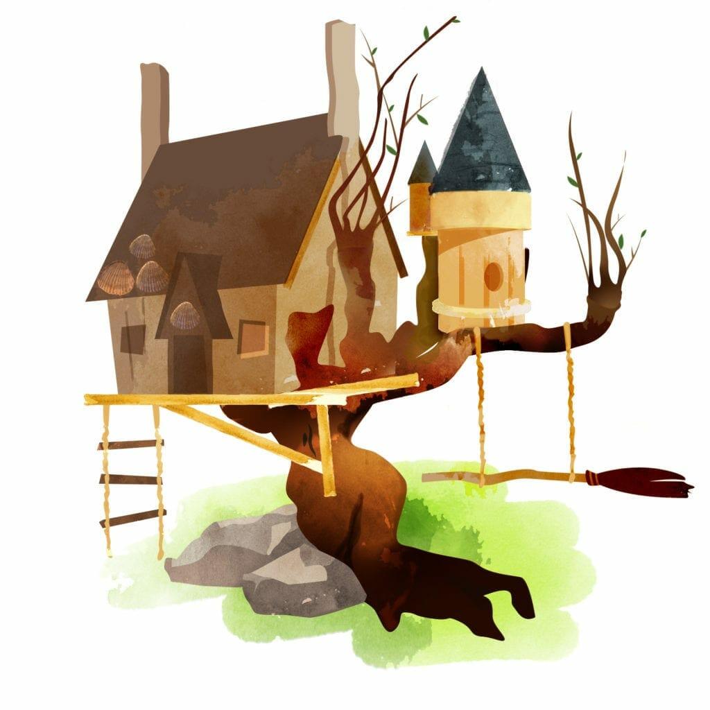 Harry Potter treehouse