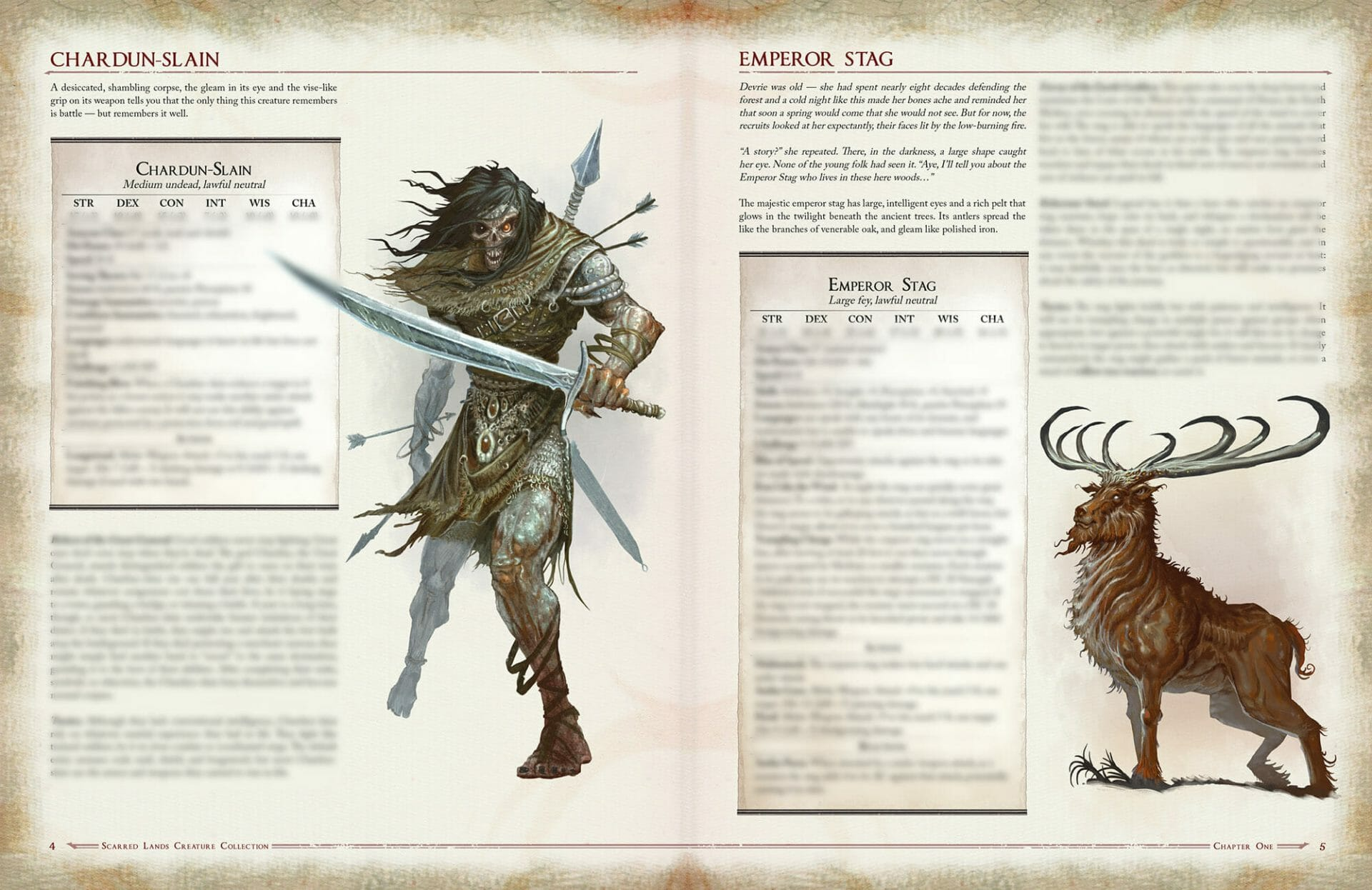 Scarred Lands Creature Collection 5e preview