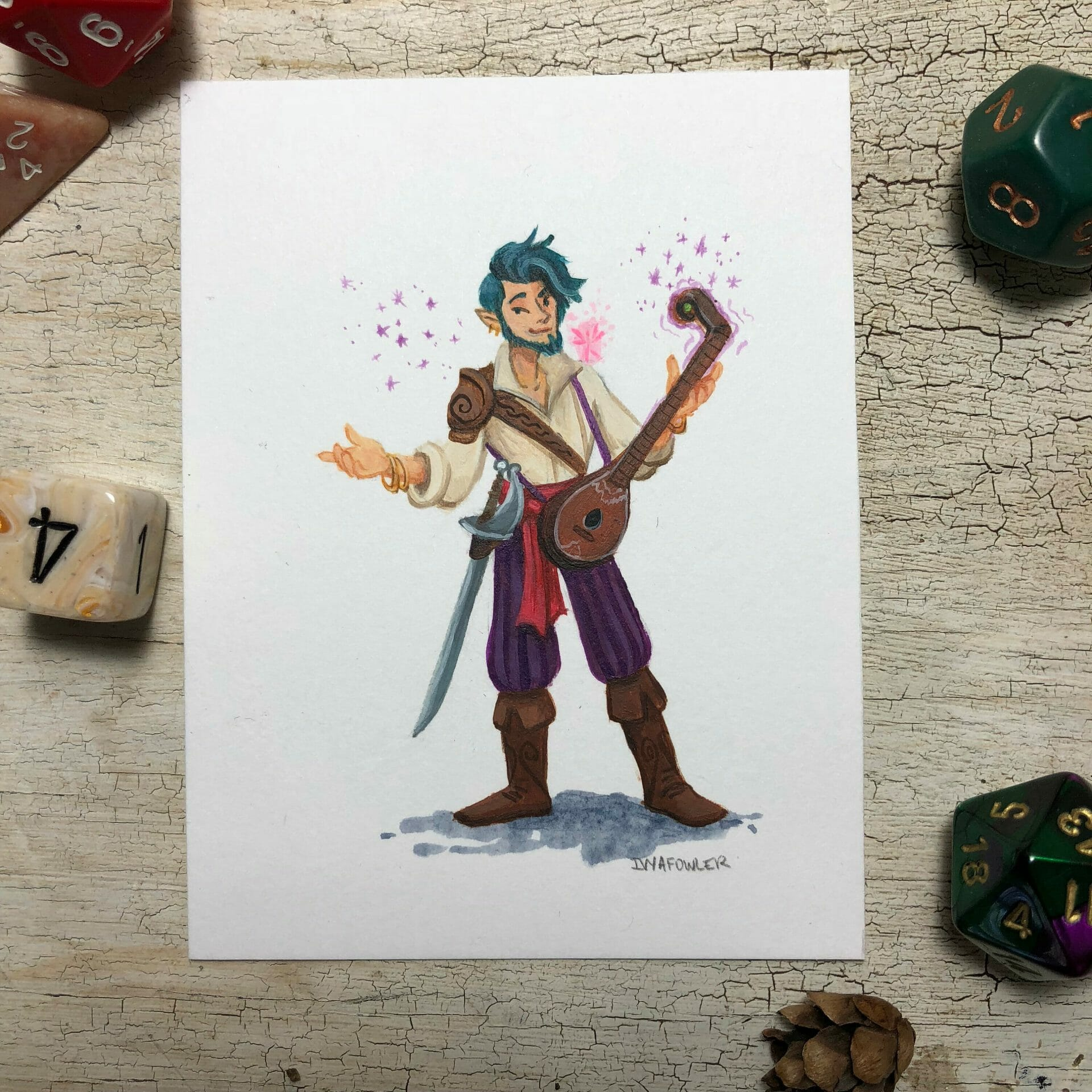 Ivy A Fowler character art commission