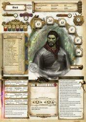 Custom D&D character sheet