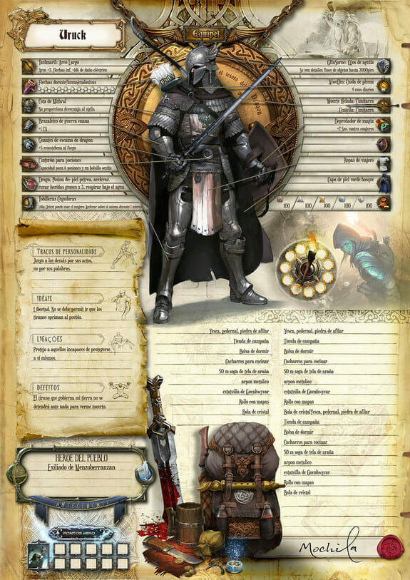 Custom D&D character sheet