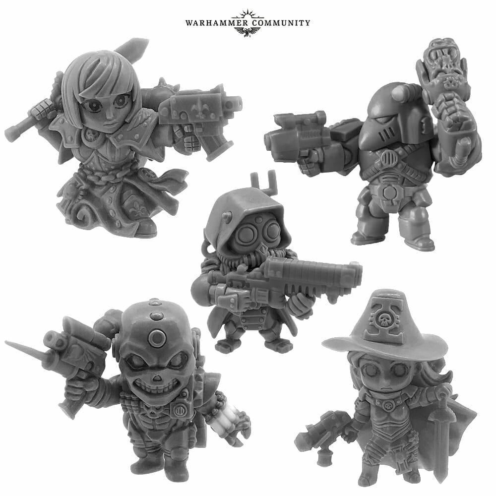 Warhammer 40k gashapon chibis