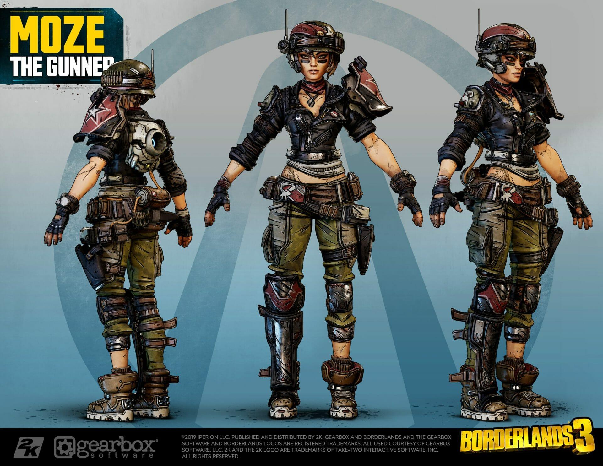 Moze, The Gunner, Borderlands 3