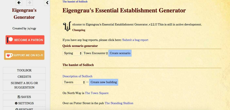 Eigengrau's Generator