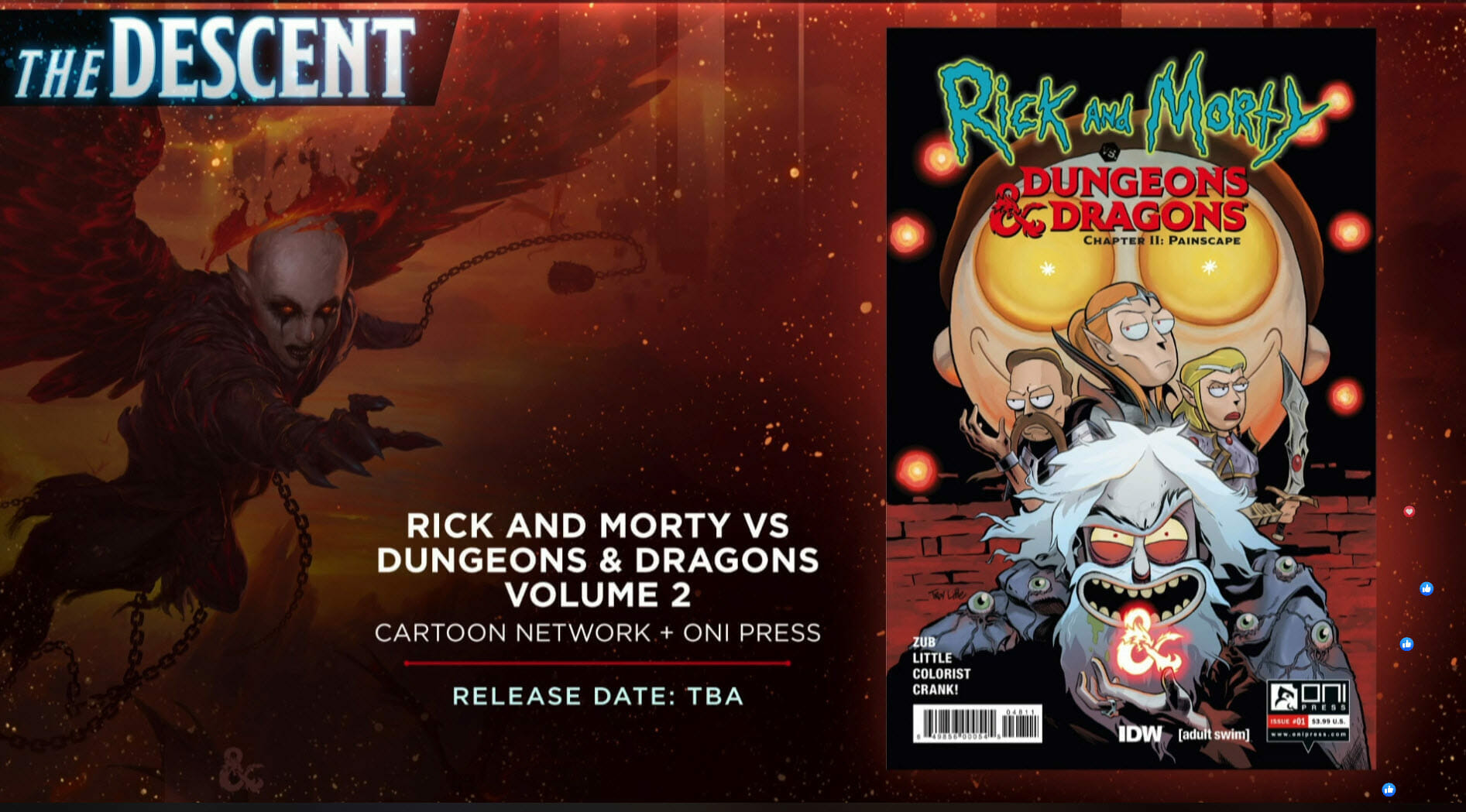 Oni Press 2019 Rick and Morty vs Dungeons and Dragons Painscape Cover D