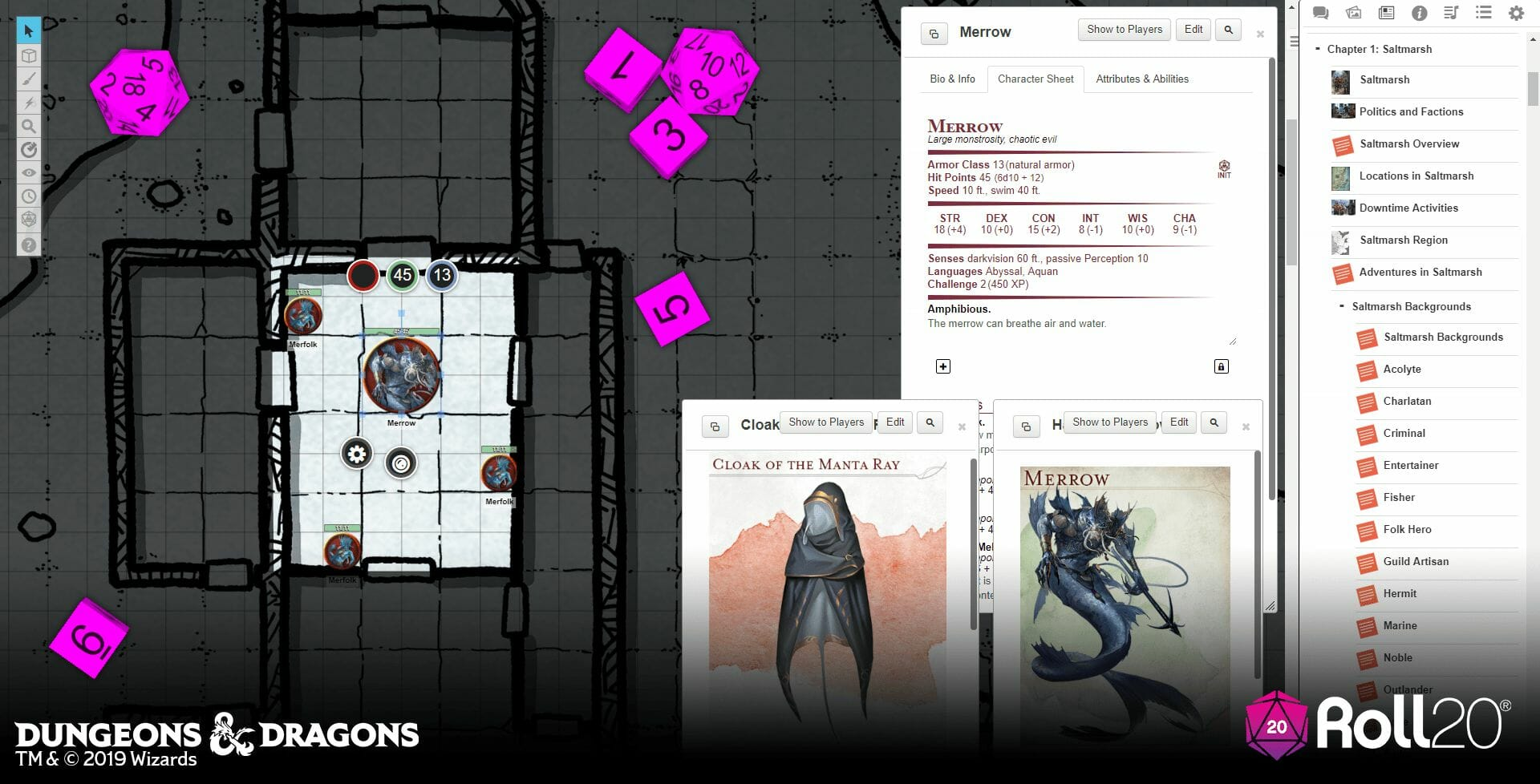 Ghosts of Saltmarsh with Roll20