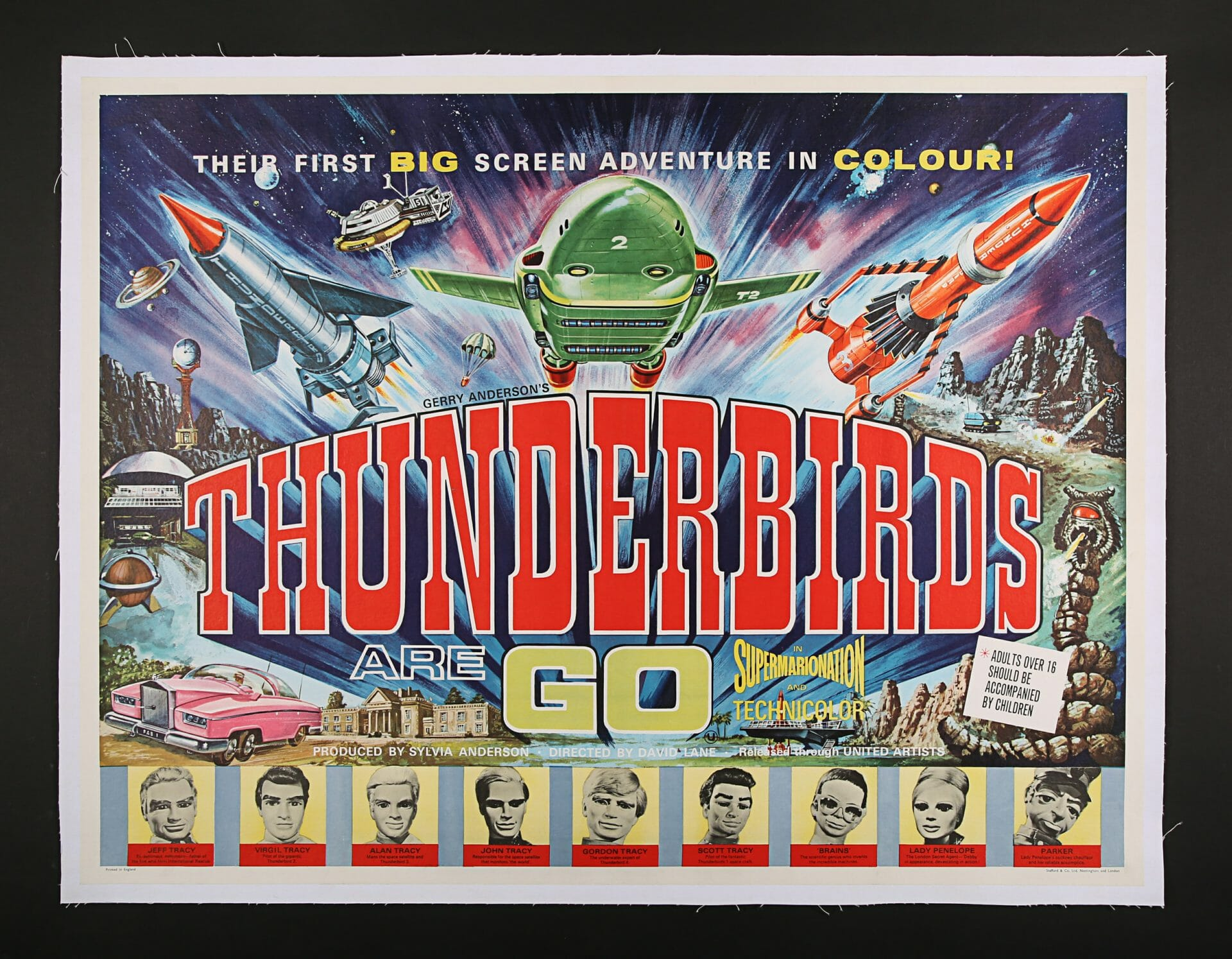 Quad style Thunderbirds poster
