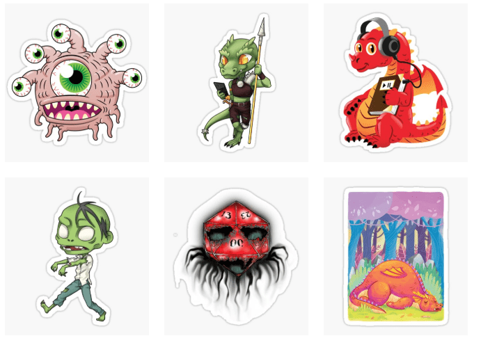 Geek Native mascot stickers