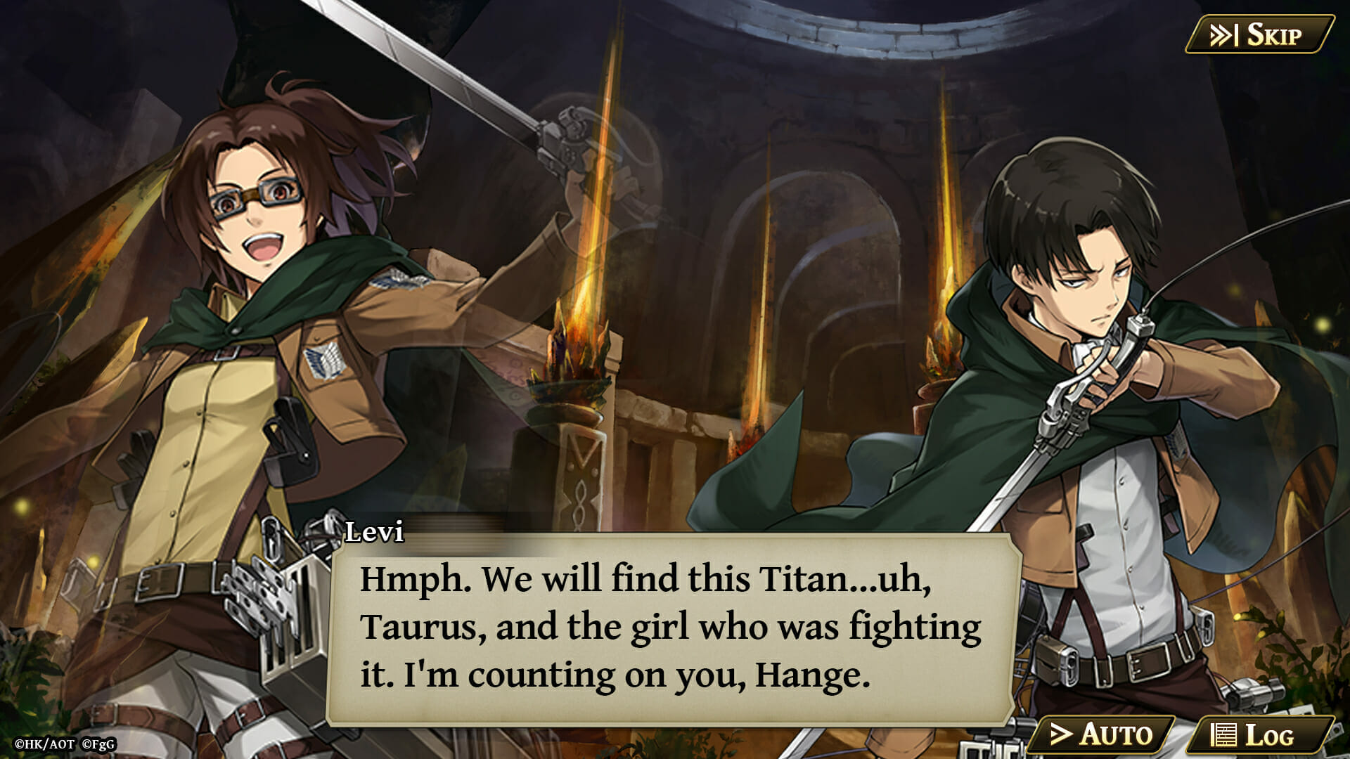 Levi and Hange in The Alchemist Code