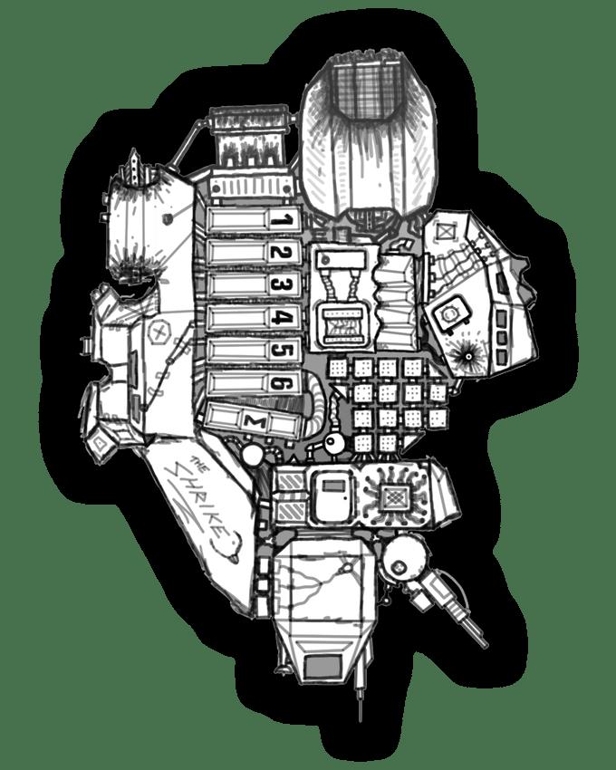 A rust hulk