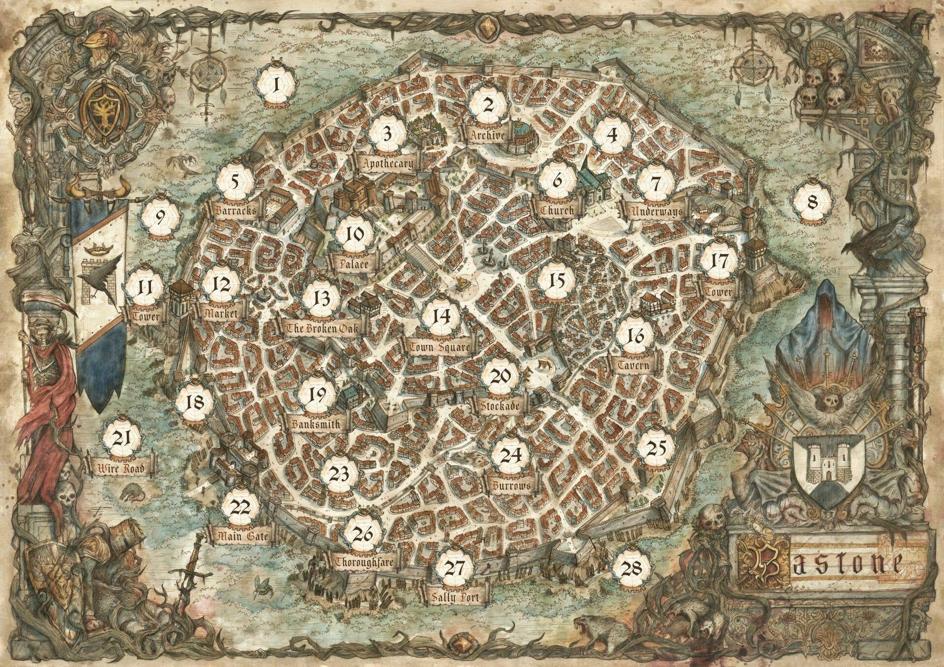 Oathsworn map: Bastone