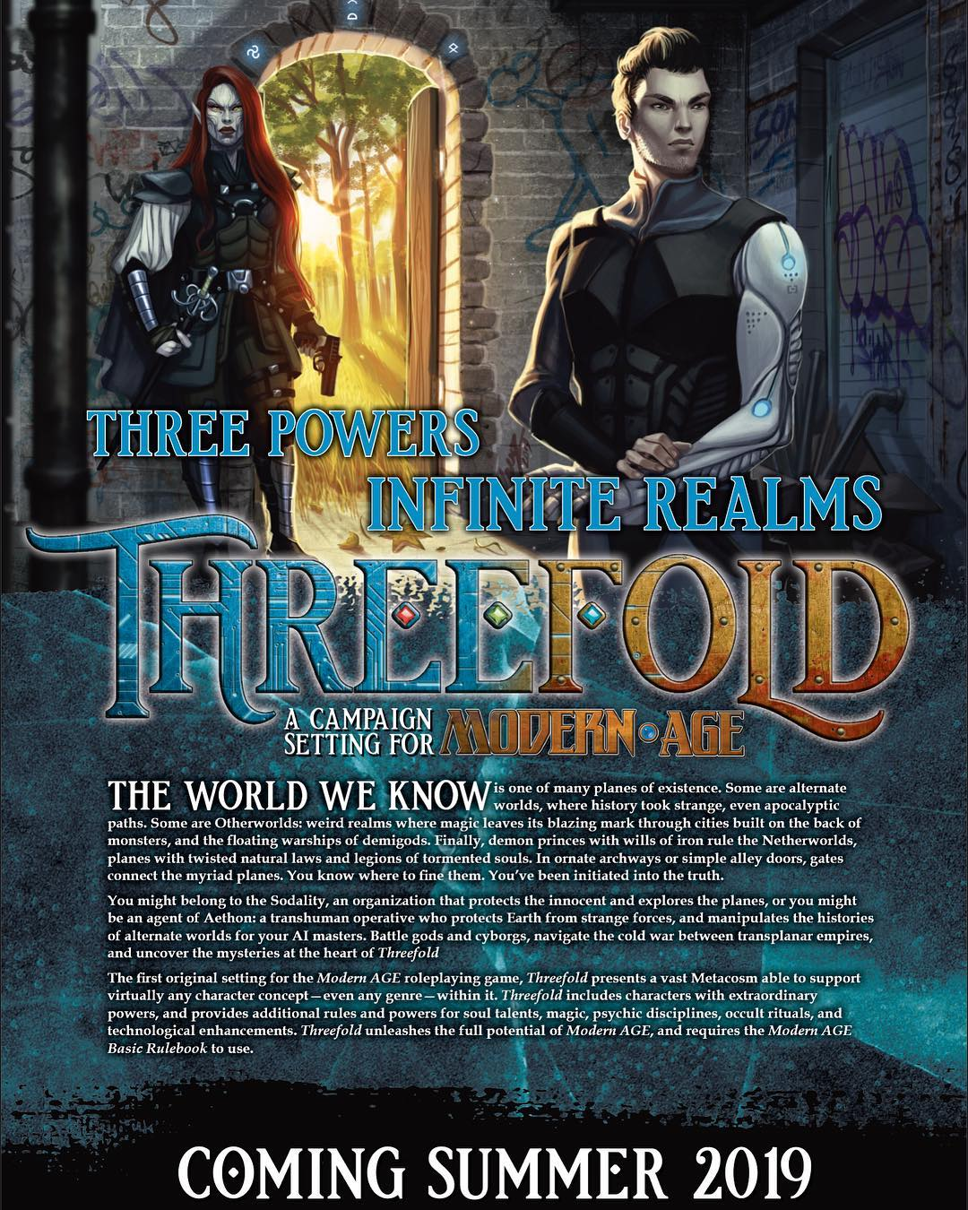Threefold poster