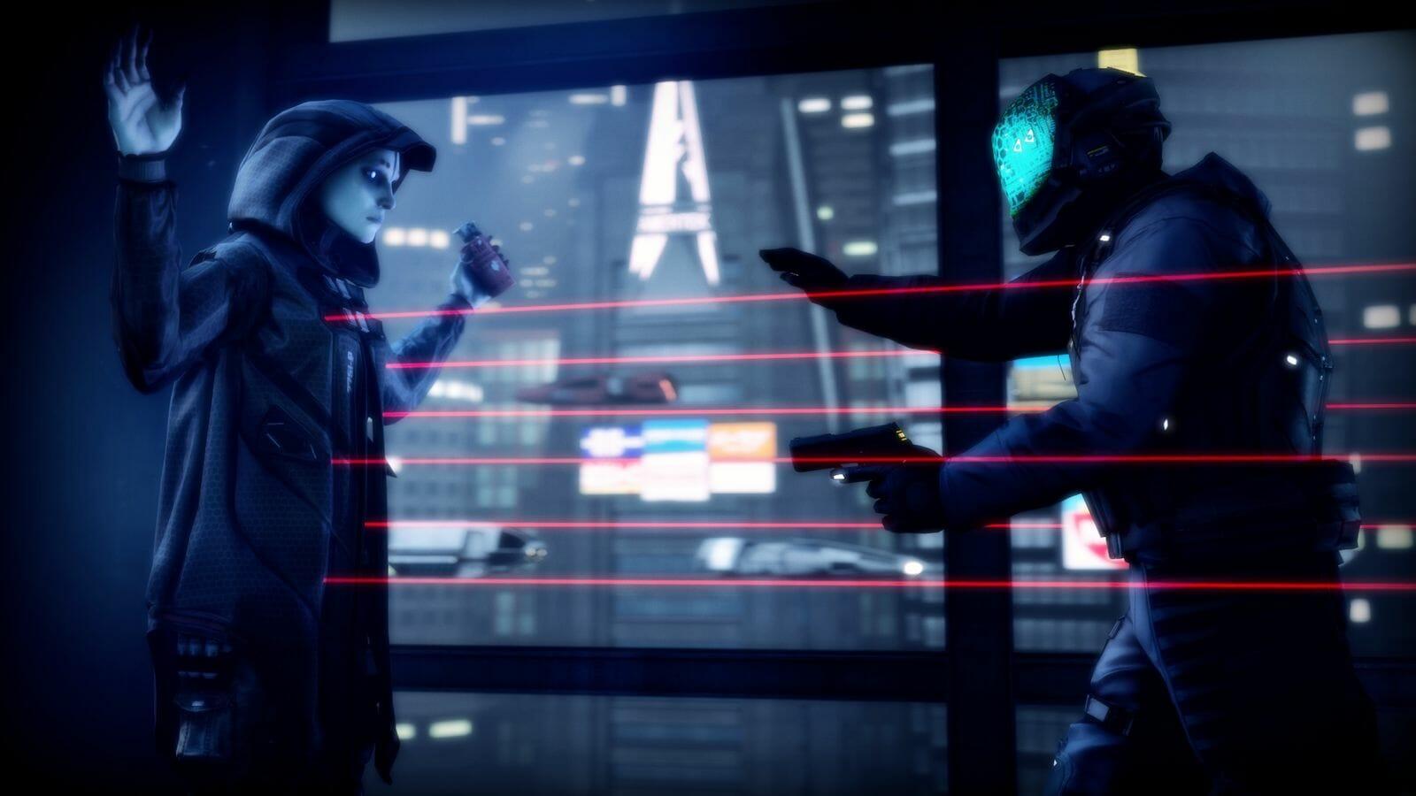 Dystopian cyberpunk