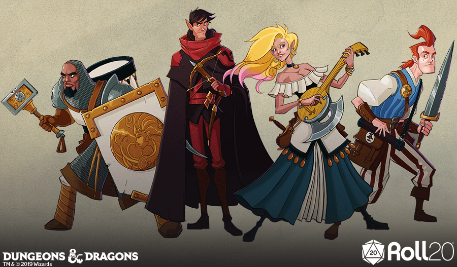 Acquisitions Incorporated art  b-team