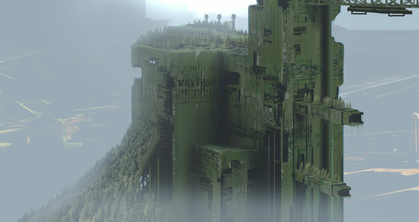 Is this concept art from an abandoned Blade Runner film?
