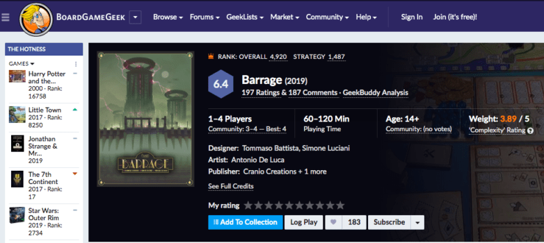 Barrage 6/10
