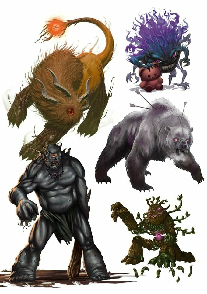 Age of Hunters monsters
