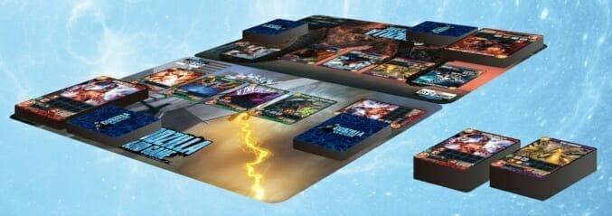 Inside the Godzilla card game box