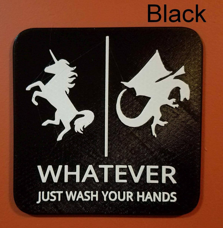 Dragon & Unicorn bathroom sign (gender neutral)