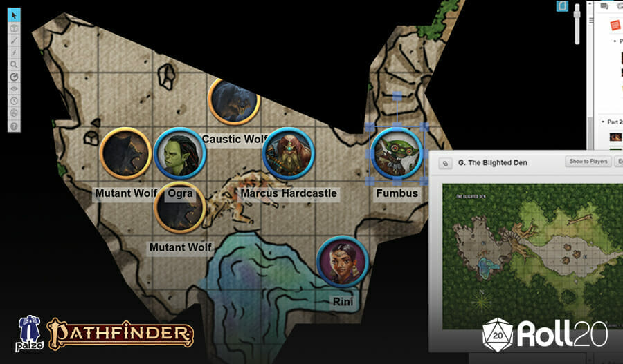 Pathfinder virtual tabletop