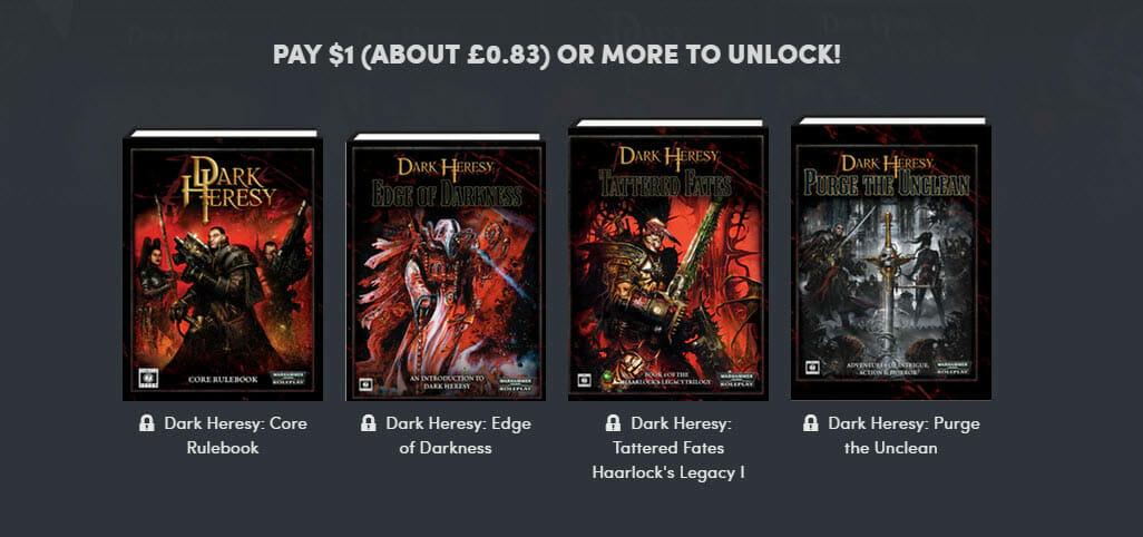 Dark Heresy Humble Bundle