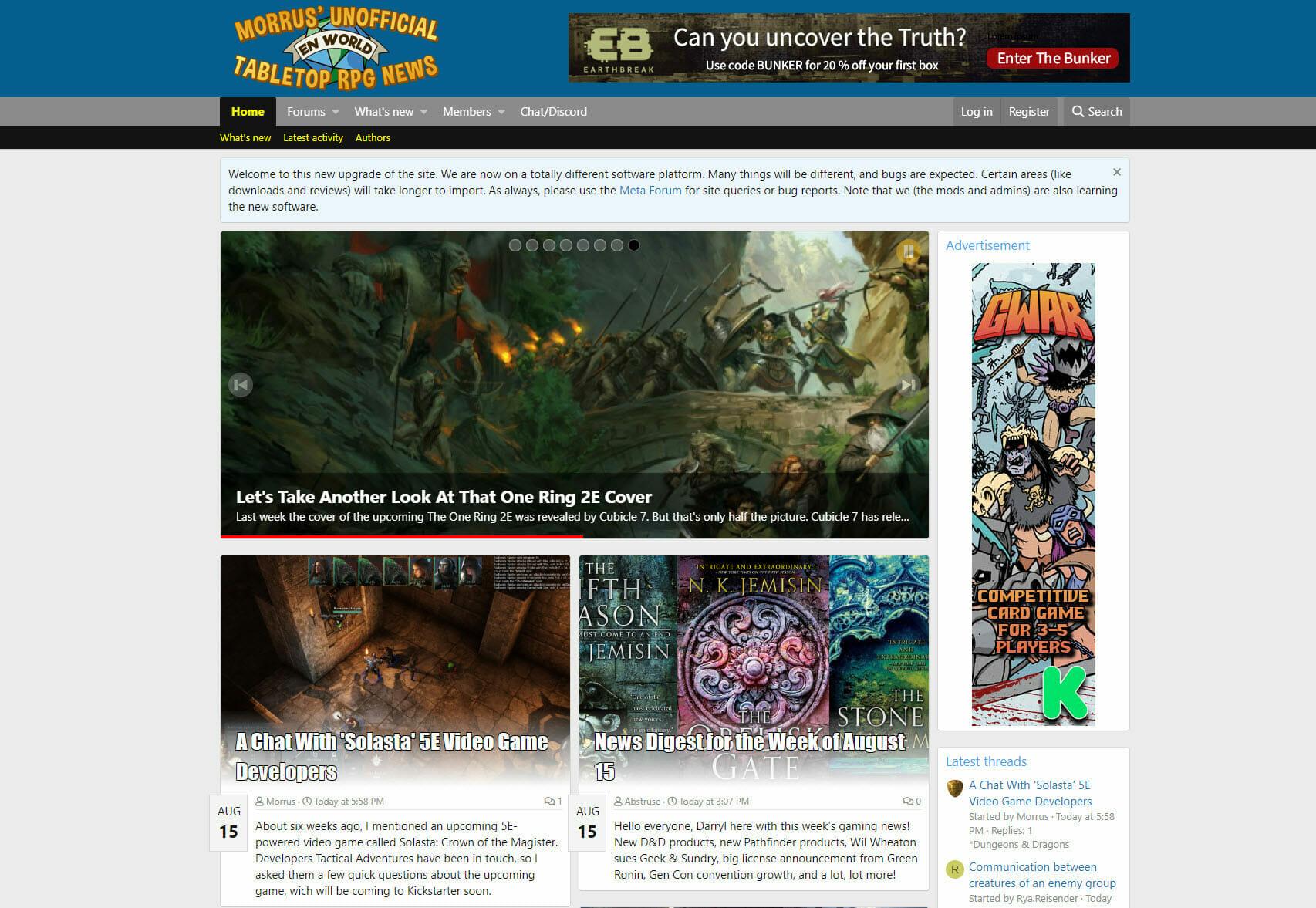 EN World homepage