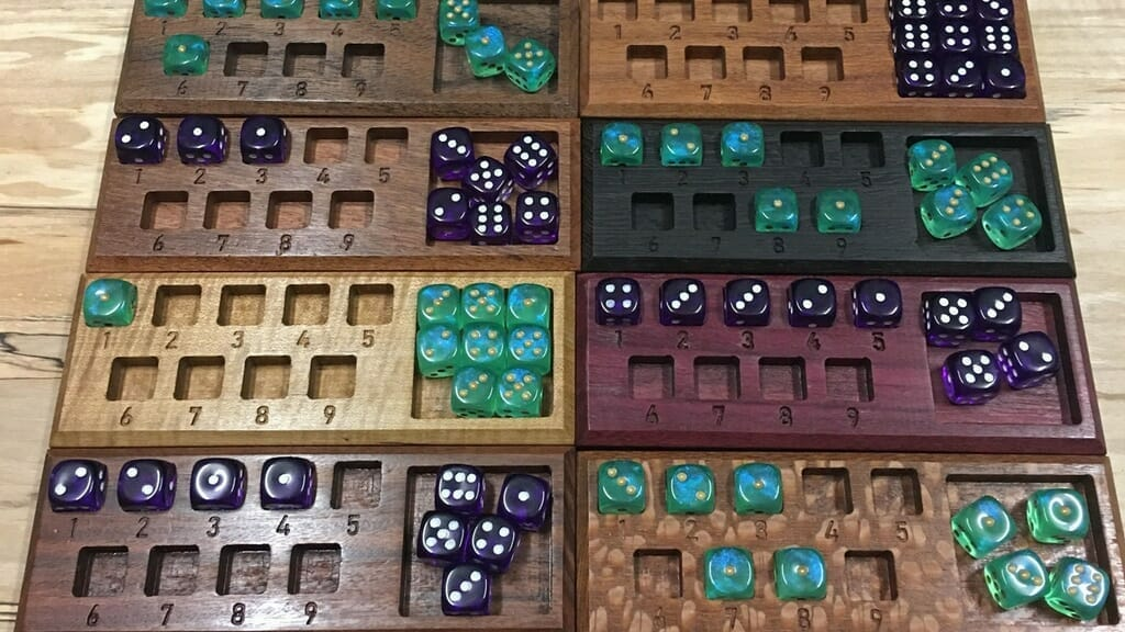Spell dice trackers