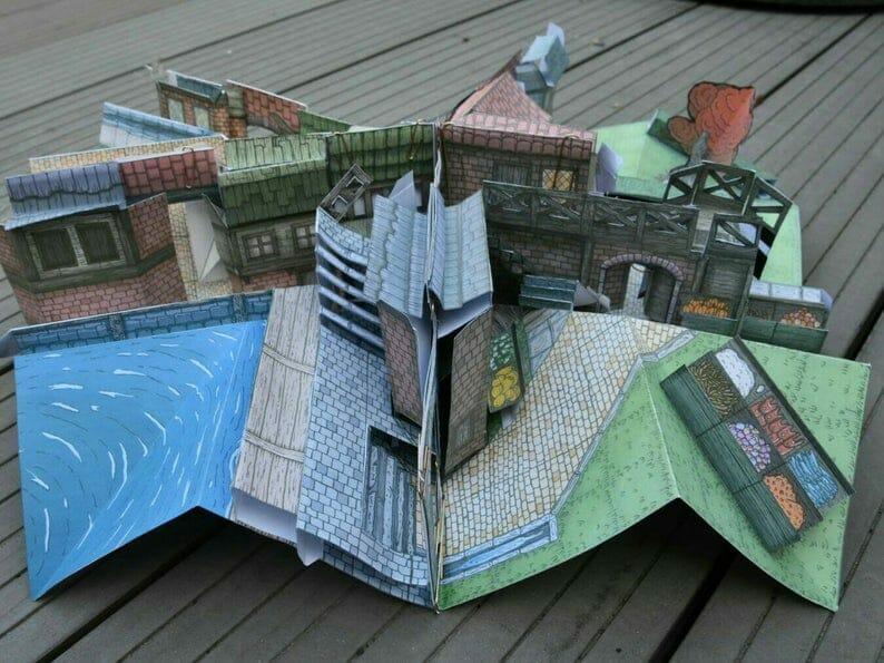 Papercraft D&D Map