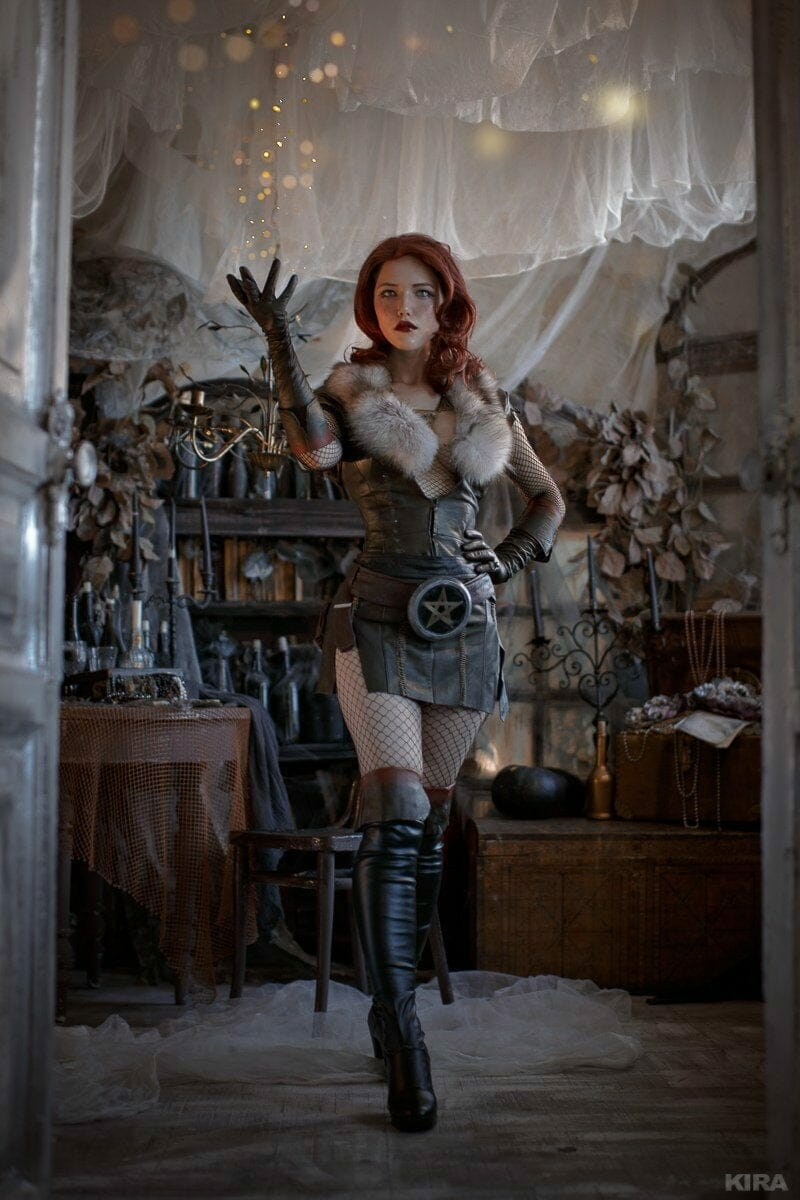 The Witcher's Triss cosplay