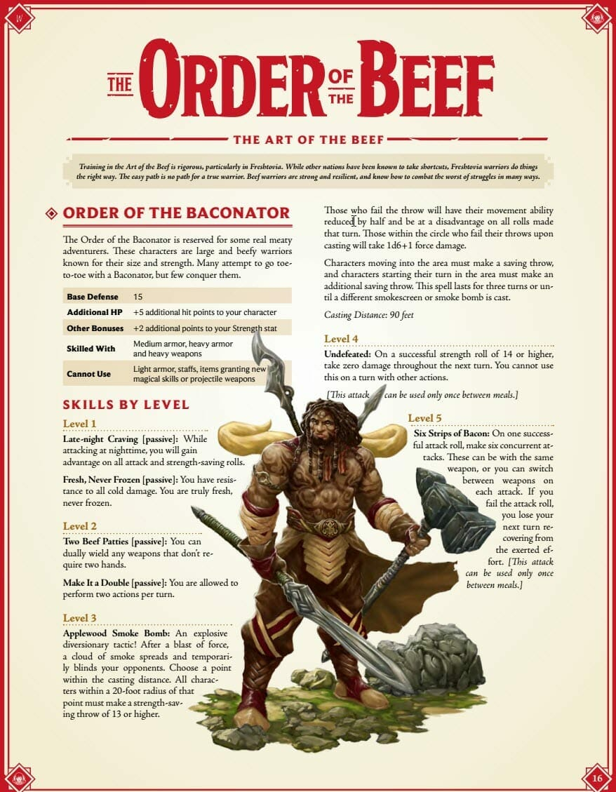 The Order of the Beef