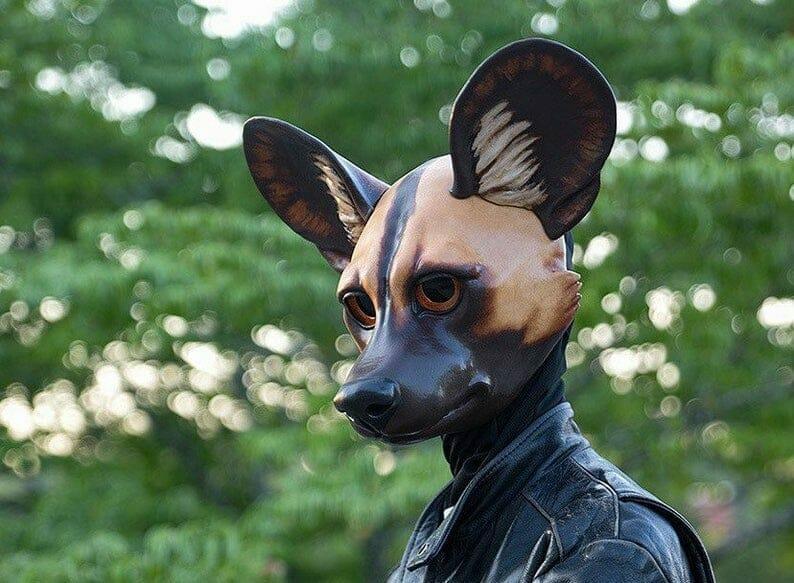 Big eared wolf mask