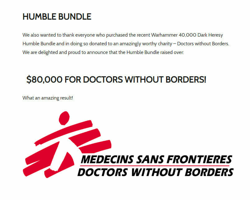 The project raised $80,000 for Doctors  Without Borders.