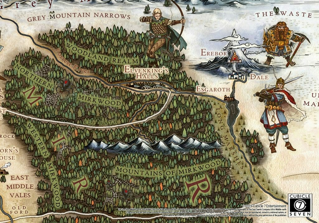 Middle-earth cartography