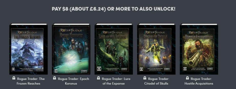 Rogue Trader bundle $8