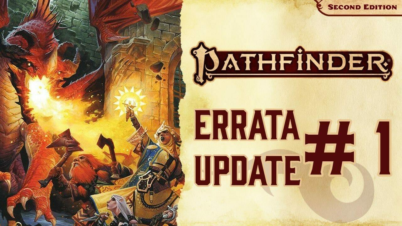 Pathfinder 2e Errata Update