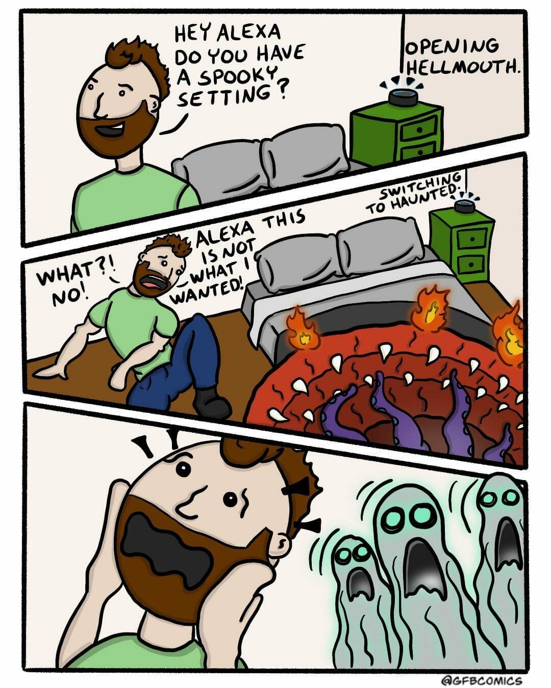 Alexa spooky setting