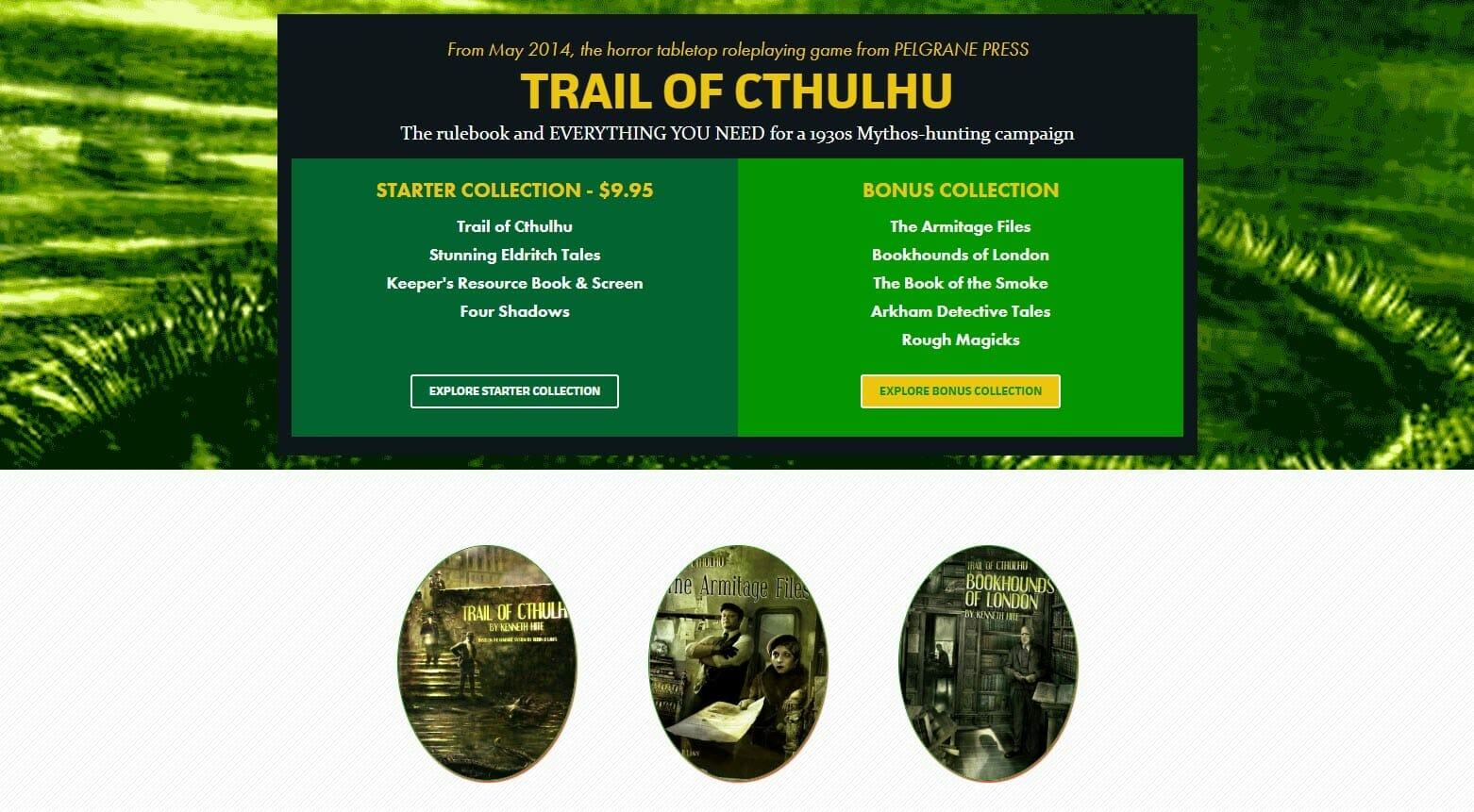 Trail of Cthulhu humble bundle
