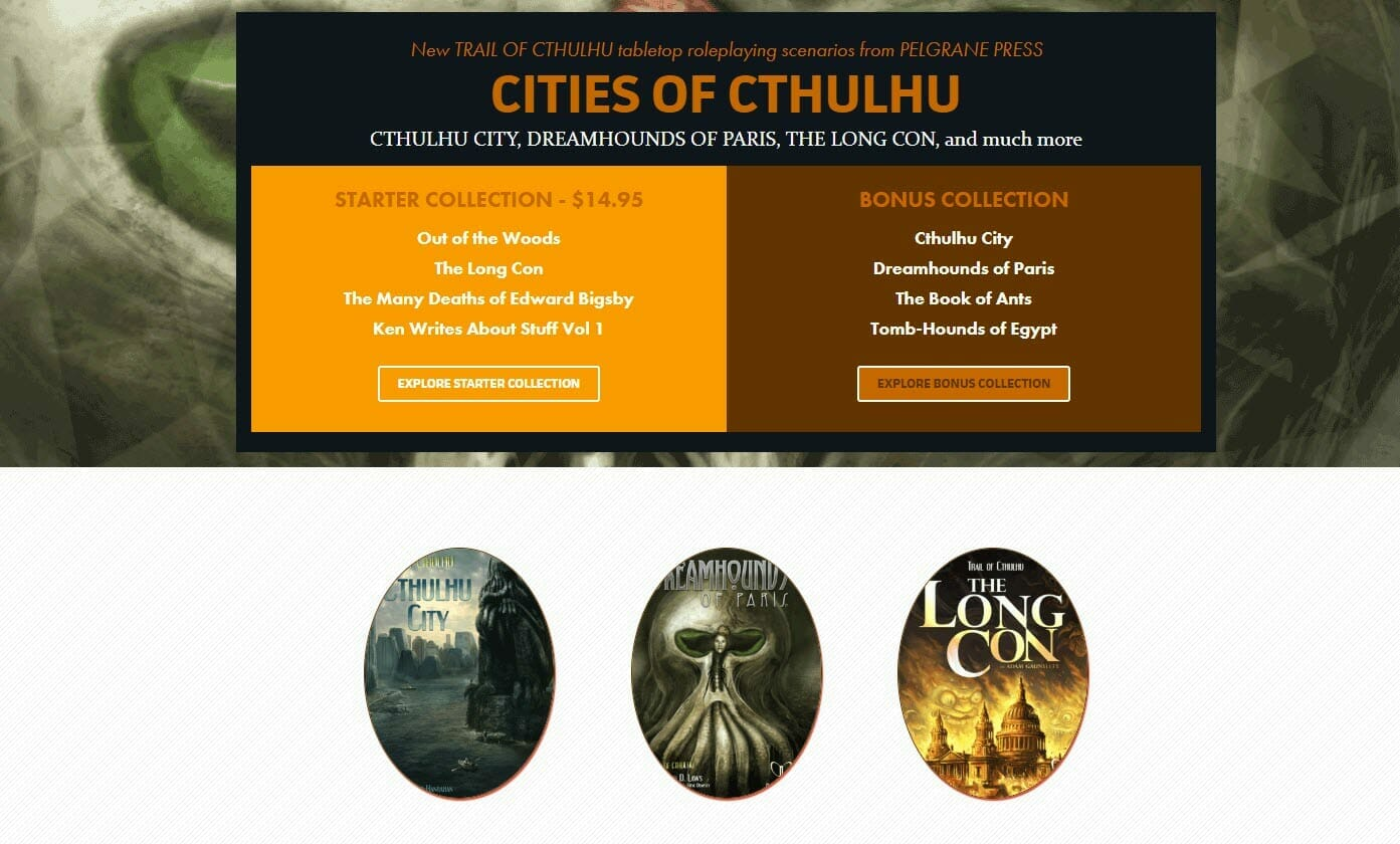 Cities of Cthulhu humble bundle