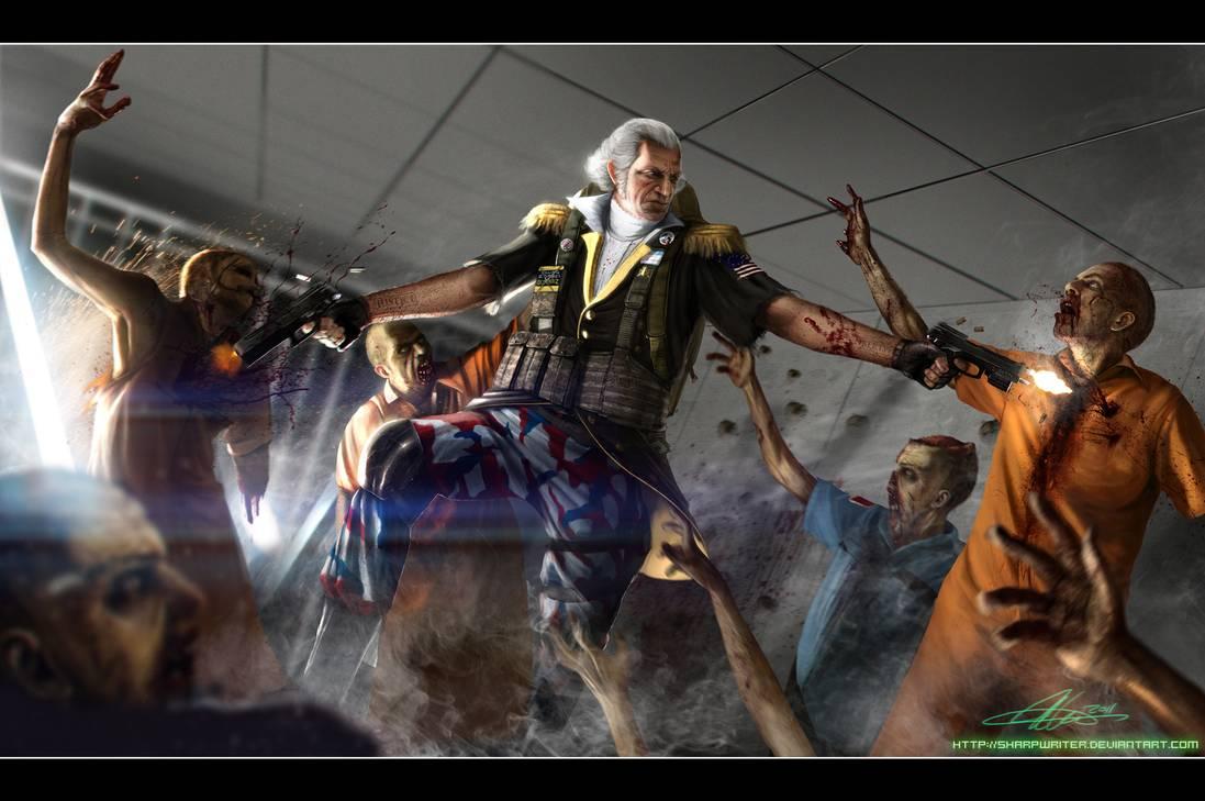 George Washington Zombie Hunter by SharpWriter