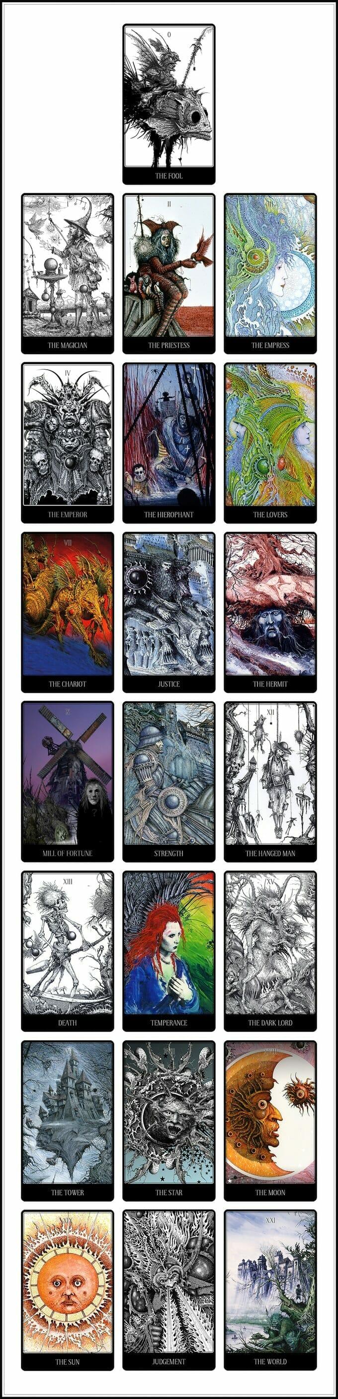 Ian Miller tarot cards