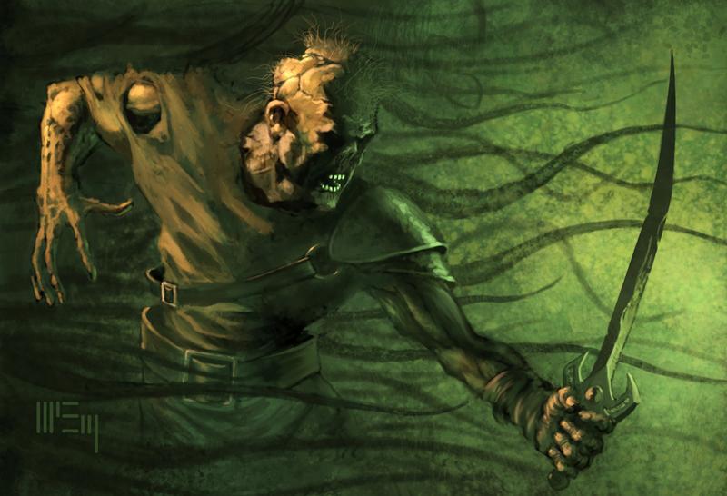 Zombie Warrior by Patrick McEvoy